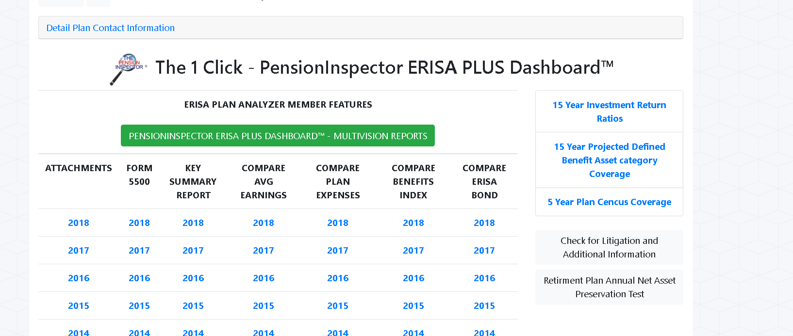ERISA Plus Dashboard